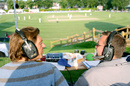 BBC Radio London commentators cover the county match, Surrey v Kent, County Championship Division One, 2nd day, Whitgift School, June 1, 2007
