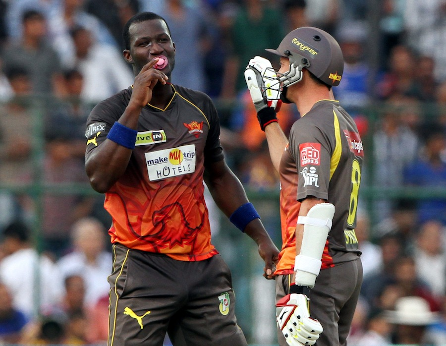 Darren Sammy celebrated his fifty by sucking on a pacifier ...