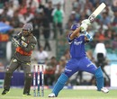 Rahul Dravid cuts during his innings of 36