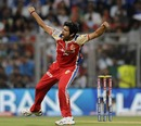 RP Singh celebrates Sachin Tendulkar's wicket, Mumbai Indians v Royal Challengers Bangalore, IPL, Mumbai, April 27, 2013