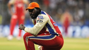 Chris Gayle, the season's top run-scorer, with the orange cap