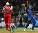 Dhawal Kulkarni celebrates a wicket, Mumbai Indians v Royal Challengers Bangalore, IPL, Mumbai, April 27, 2013