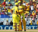Michael Hussey and Wriddhiman Saha added 103 for the first wicket, Chennai Super Kings v Kolkata Knight Riders, IPL, Chennai, April 28, 2013