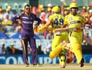 Sunil Narine strikes the teapot pose, Chennai Super Kings v Kolkata Knight Riders, IPL, Chennai, April 28, 2013