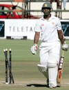 Regis Chakabva was bowled for 22, Zimbabwe v Bangladesh, 2nd Test, Harare, 4th day, April 28, 2013