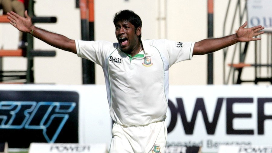 Robiul Islam appeals for a wicket