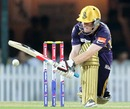 Eoin Morgan plays the sweep, Chennai Super Kings v Kolkata Knight Riders, IPL, Chennai, April 28, 2013
