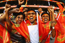 Royal Challengers Bangalore fans cheer for their team, Royal Challengers Bangalore v Rajasthan Royals, IPL, Bangalore, March 18, 2010