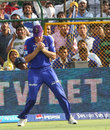 James Faulkner takes a catch to dismiss Virat Kohli, Rajasthan Royals v Royal Challengers Bangalore, IPL 2013, Jaipur, April 29, 2013