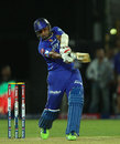 Stuart Binny hits the winning four off the last ball