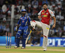 Manpreet Gony celebrates after dismissing Dinesh Karthik, Mumbai Indians v Kings XI Punjab, IPL 2013, Mumbai, April 29, 2013