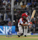 Mandeep Singh's stumps are shattered by a Lasith Malinga delivery, Mumbai Indians v Kings XI Punjab, IPL 2013, Mumbai, April 29, 2013