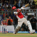 Praveen Kumar smashed a couple of sixes towards the end of the Kings XI innings, Mumbai Indians v Kings XI Punjab, IPL 2013, Mumbai, April 29, 2013