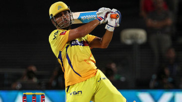 MS Dhoni hits one out of the screws