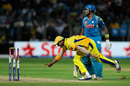 Suresh Raina runs out Robin Uthappa