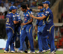Dhawal Kulkarni is applauded by team-mates after his final over, Mumbai Indians v Kings XI Punjab, IPL 2013, Mumbai, April 29, 2013
