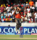 Ishant Sharma in his bowling stride, Sunrisers Hyderabad v Mumbai Indians, IPL, Hyderabad, May 1, 2013