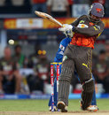 Kumar Sangakkara pulls to the leg side, Sunrisers Hyderabad v Mumbai Indians, IPL, Hyderabad, May 1, 2013