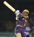Sumit Narwal hits out, Delhi Daredevils v Kolkata Knight Riders, IPL, Raipur, May 1, 2013
