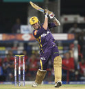 Brett Lee launches to the leg side, Delhi Daredevils v Kolkata Knight Riders, IPL, Raipur, May 1, 2013