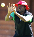 Elton Chigumbura takes part in a fielding drill, Bulawayo, May 1, 2013