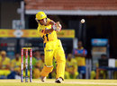 Wriddhiman Saha pulls during his cameo, Chennai Super Kings v Kings XI Punjab, IPL 2013, Chennai, May 2, 2013