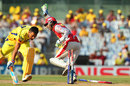 MS Dhoni is run out, Chennai Super Kings v Kings XI Punjab, IPL 2013, Chennai, May 2, 2013