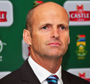Gary Kirsten at the announcement of South Africa's Champions Trophy squad