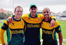 Colin Ingram, Rory Kleinveldt and JP Duminy in South Africa's new one-day kit, Cape Town, May 2, 2013