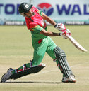 Nasir Hossain launches into one, Zimbabwe v Bangladesh, 1st ODI, Bulawayo, May 3, 2013
