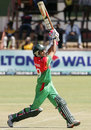 Nasir Hossain hits down the ground, Zimbabwe v Bangladesh, 1st ODI, Bulawayo, May 3, 2013