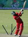 Malcolm Waller is bowled by Ziaur Rahman, Zimbabwe v Bangladesh, 1st ODI, Bulawayo, May 3, 2013