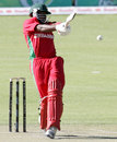 Shingi Masakadza pulls to the leg side, Zimbabwe v Bangladesh, 1st ODI, Bulawayo, May 3, 2013