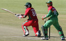Shingi Masakadza plays a sweep shot, Zimbabwe v Bangladesh, 1st ODI, Bulawayo, May 3, 2013