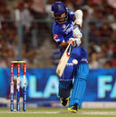 Ajinkya Rahane hits to the leg side