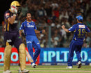 Ankeet Chavan is elated after picking up Manvinder Bisla, Kolkata Knight Riders v Rajasthan Royals, IPL,Kolkata, May 3, 2013