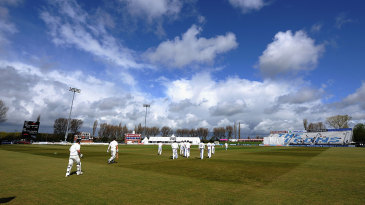Early rain cleared as New Zealand began their tour