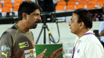 Ex-India openers catch up - Kris Srikkanth with Sunil Gavaskar