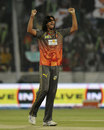 Ishant Sharma celebrates an early wicket, Sunrisers Hyderabad v Delhi Daredevils, IPL, Hyderabad, May 4, 2013