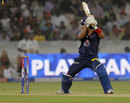 Unmukt Chand makes room and loses his leg stump to Dale Steyn, Sunrisers Hyderabad v Delhi Daredevils, IPL, Hyderabad, May 4, 2013