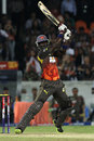 Darren Sammy bashes one through the off side, Sunrisers Hyderabad v Delhi Daredevils, IPL, Hyderabad, May 4, 2013