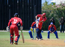 Bermuda's Chris Douglas whips one off his hips in his match-winning 89, Bermuda v USA, World Cricket League Division 3, Hamilton, May 4, 2013