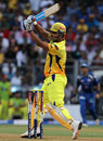 MS Dhoni plays to leg