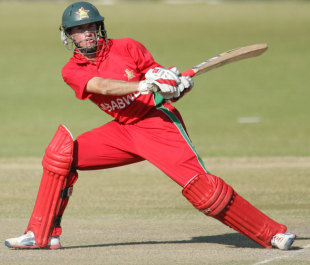 Sean Williams plays a reverse sweep, Zimbabwe v Bangladesh, 2nd ODI, Bulawayo, May 5, 2013