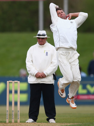 Bruce Martin took 3 for 13 on day two,  Derbyshire v New Zealanders, Tour Match, 2nd day, Derby, May 5, 2013