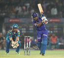 Ajinkya Rahane plays a shot during his innings