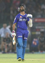 Ajinkya Rahane celebrates after scoring his fifty