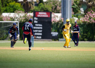 Nepal kept Uganda to 151, and then chased down the target with five wickets to spare to lift the World Cricket League Div 3 title in Bermuda