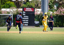 Pradeep Airee runs in to field the ball, Nepal v Uganda, World Cricket League Division 3, final, Hamilton, May 5, 2013