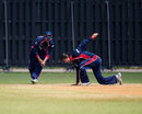 Pradeep Airee and Shakti Gauchan have some fun, Nepal v Uganda, World Cricket League Division 3, final, Hamilton, May 5, 2013